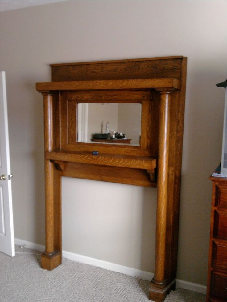 Oak Antique Mantel With Mirror Architectural Salvage Pinterest Mantels Antiques And Mirror