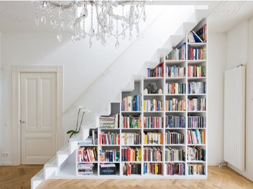 : Bookcase, Ideas, Interior, Bookshelves, Stairs, Dream, Staircase, House, Space