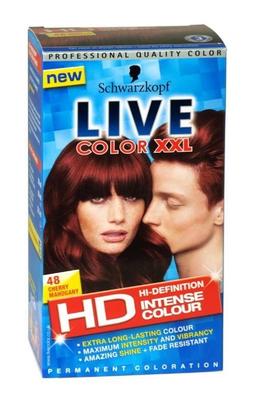 Schwarzkopf live color xxl hd hair colour 48 cherry mahogany