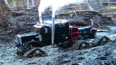 Mud Bog Monster Truck Is A RC 4X4 Semi-Truck Off Road Beast That Is Smaller Than Your Dog