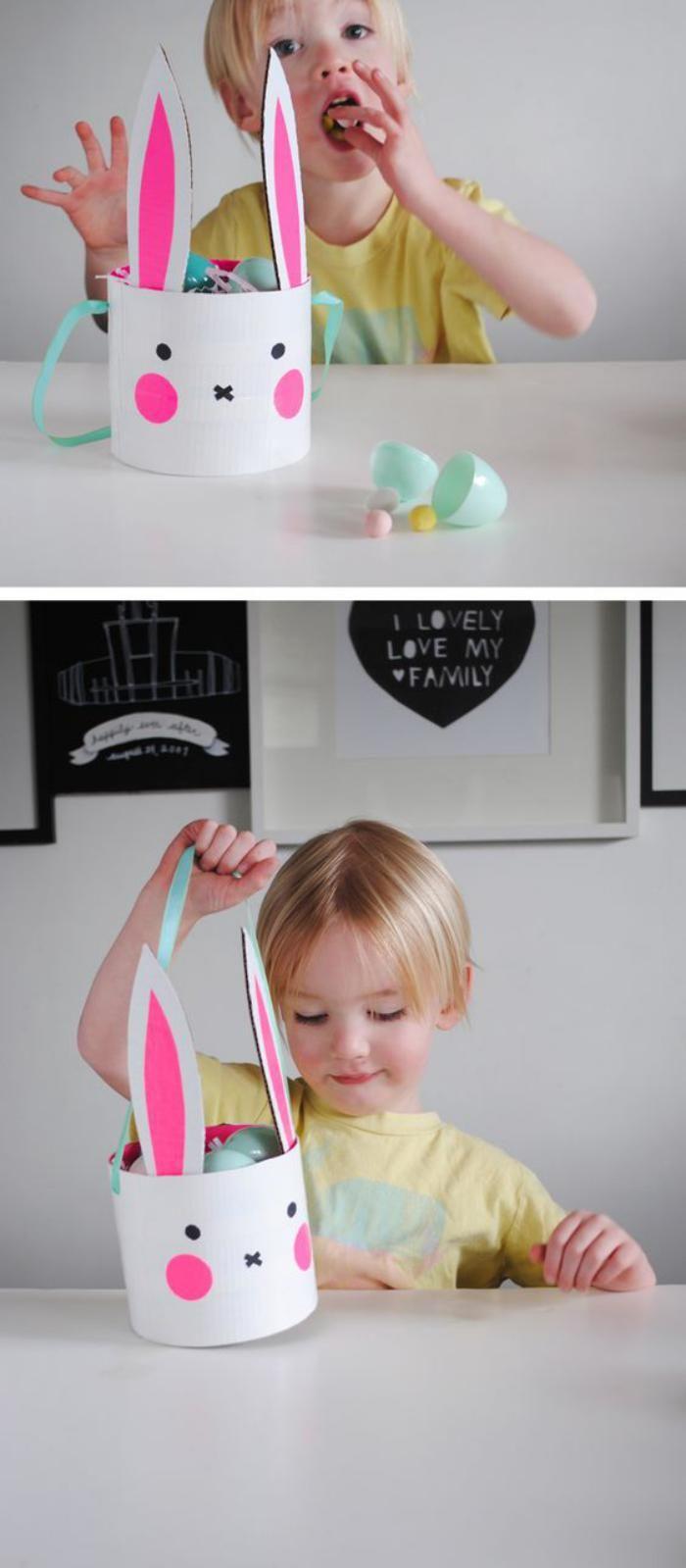 panier de paques bricolage panier de paques facile