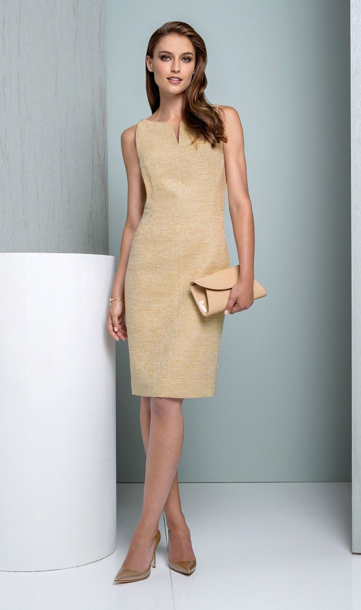 ETCETERA - Holiday 2015 Collection - Look 62 GILT Dress $295