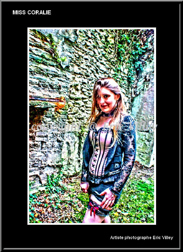 shoot... MISS CORALIE... Gothic sensual by Artiste photographe amateur--ERIC VILLEY