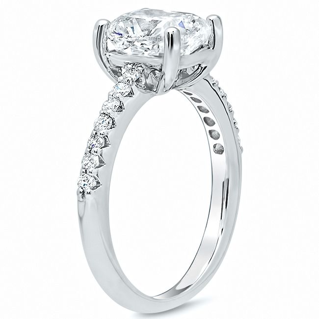 Square Pave Engagement Ring click to enlarge Rings
