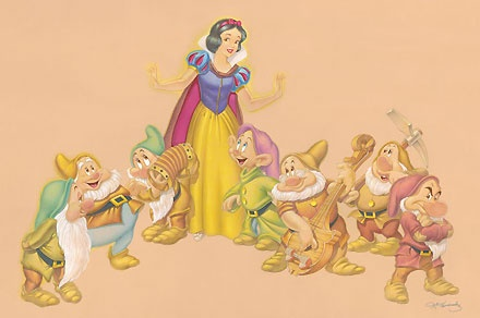 Snow White and the Seven Dwarfs - A Song and a Dance - Manny Hernandez - World-Wide-Art.com - $595.00