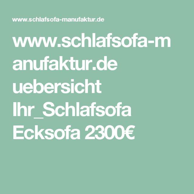 Good  schlafsofa manufaktur de uebersicht Ihr Schlafsofa Ecksofa uac
