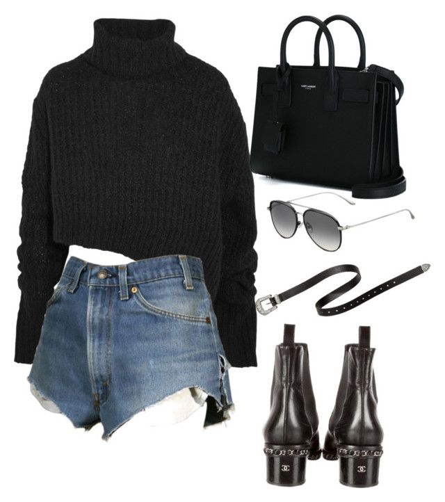 """Untitled #5421"" by lilaclynn ❤ liked on Polyvore featuring Ann Demeulemeester, Dukes, Yves Saint Laurent, Chanel, Jimmy Choo, YSL, jimmychoo, saintlaurent and yvessaintlaurent"