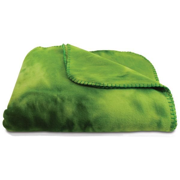 Green Tie-Dye Throw x - anti-pill polyester fleece blanket in tie-dye  pattern with matching whip stitch. Available in red, blue, green, pink and  orange.