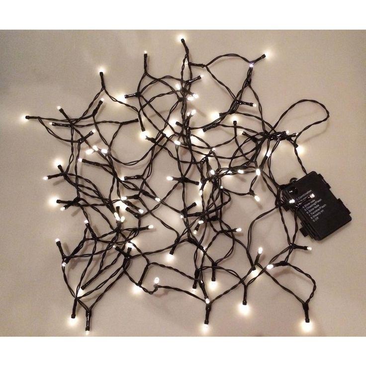 Novolink 34 ft. 100-Light LED Warm White Battery Operated Decorative String Light Decorative ...
