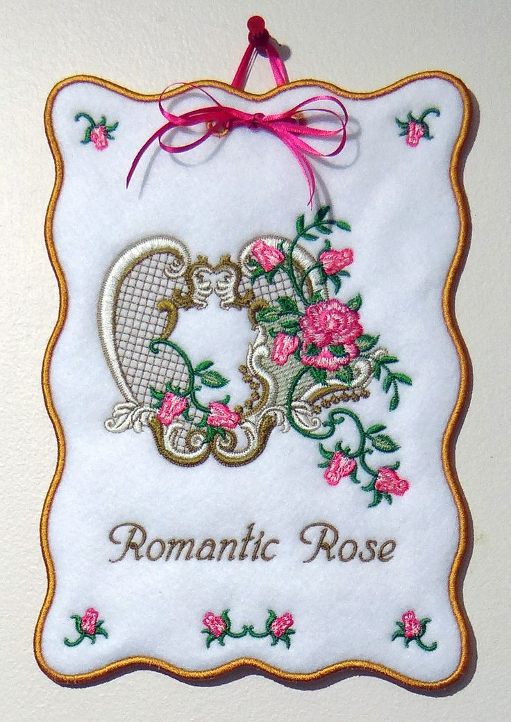 Romantic Rose - A free embroidery design to download from www.suebox.com A design from the Golden Classic Collection by Sue Box