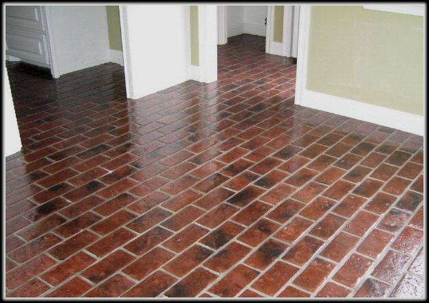 Brick Look Linoleum Flooring : Ideas about linoleum kitchen floors on pinterest