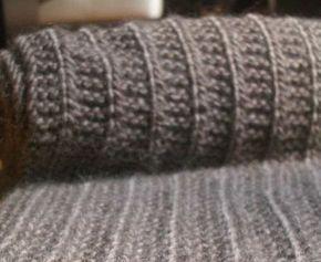Tricoter une écharpe simplement ... sans se prendre la tête ... une écharpe qui monte vite (aiguilles n°7) ... dans une laine moelleuse à so...