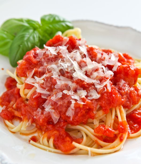 Tomato Sauce with Onion and Butter. This is soooooo yummy and so simple.  Try it, you'll be surprised how delicious it is.