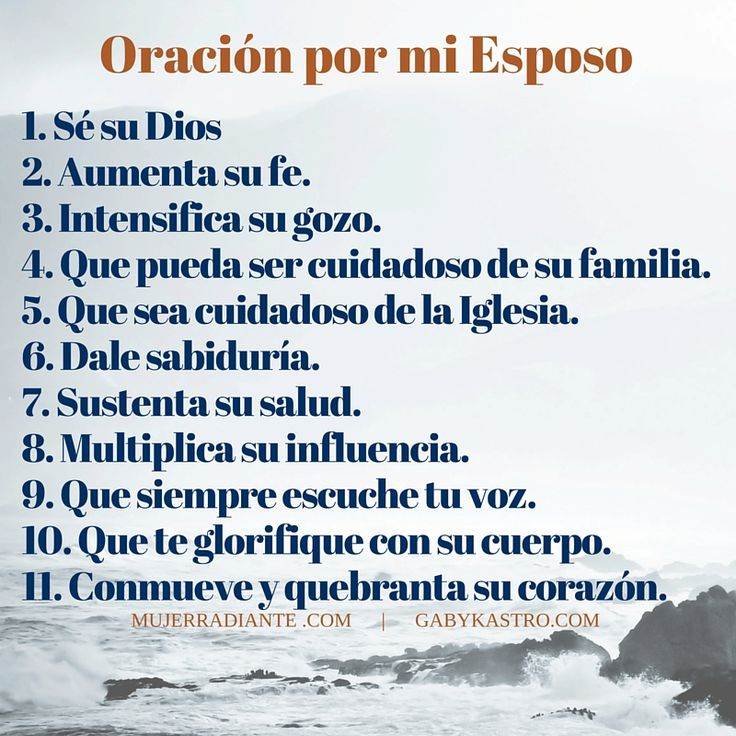 oraciones para mi esposo - Google Search