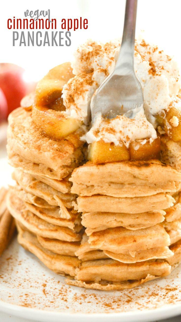 Vegan Cinnamon Apple Pancakes