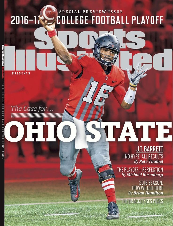 2016-17 COLLEGE FOOTBALL PLAYOFF PREVIEW ISSUE OF SPORTS ILLUSTRATED COVER J.T. BARRETT.