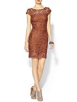 Line & Dot Rust Lace Dress | Piperlime. PLan to wear on NYE with other metallics. Since this is a copper dress, and it makes a statement on its on, I will wear earrings and a bracelet.