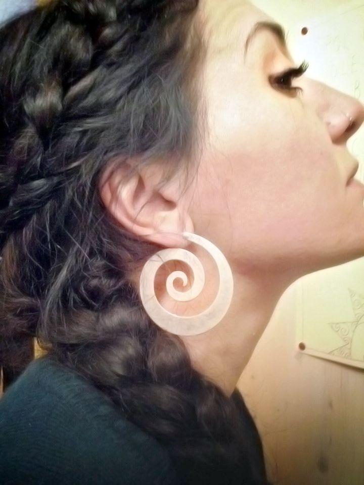 #Orecchini a #spirale in #Zamak - #Frida #Creazioni