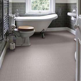 Bathroom with mink grid flooring by Wayne Hemingway