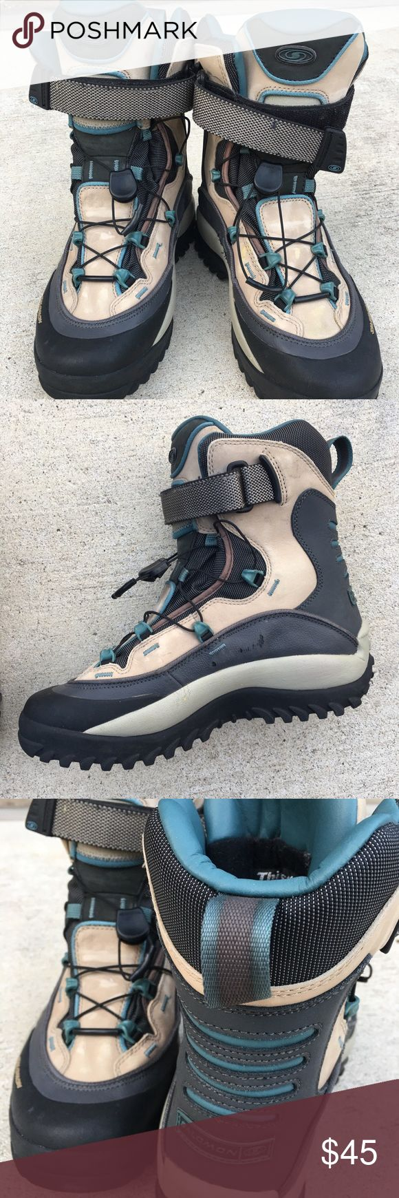 Salomon Winter Hiking Boots Thinsulate Boots are light waterproof and leather.  Thinsulate insulation and aggressive outsoles for confidence when charging through wet, snow and icy conditions. Salomon Shoes Winter & Rain Boots