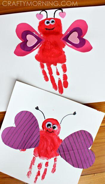 Handprint Love Bug Valentine Craft for Kids   CraftyMorning.com  #valentinesday #kidscraft