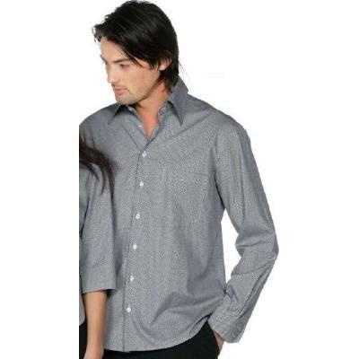 Camicia grigia uomo, 100% cotone, disponibile sia nella fantasia a quadri bordeaux che a quadri neri.