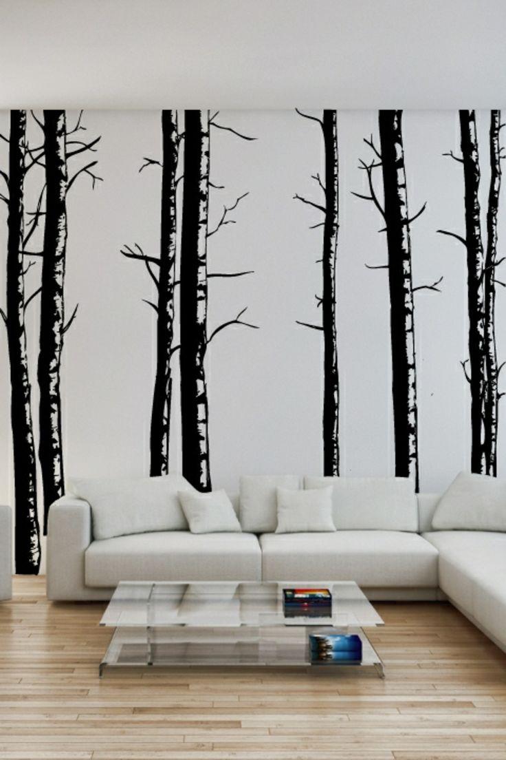 Bäume in Schwarz