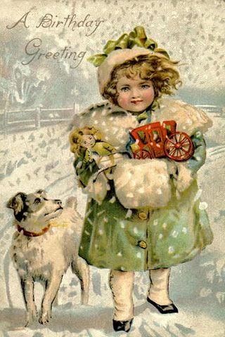 A wintery birthday greeting
