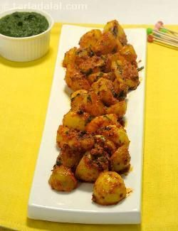 Tandoori Aloo recipe | Indian Microwave Recipes | by Tarla Dalal | Tarladalal.com | #2747