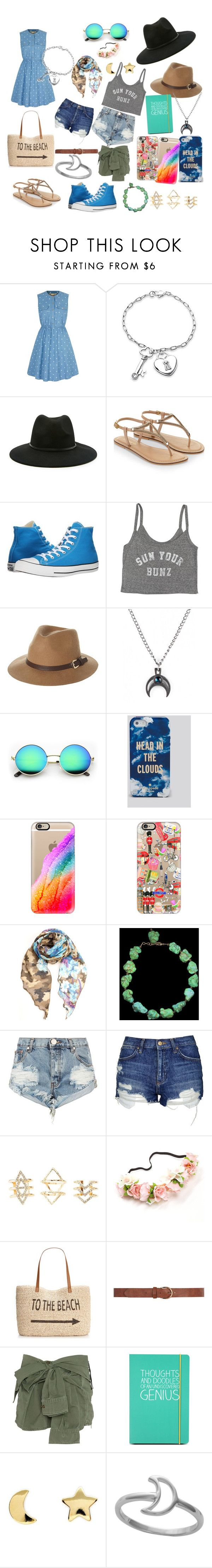 """Hippie Ascetic"" by thelittlefanthatcould ❤ liked on Polyvore featuring Yumi, Bling Jewelry, Forever 21, Monsoon, Converse, Billabong, Rusty, Kate Spade, Casetify and One Teaspoon"