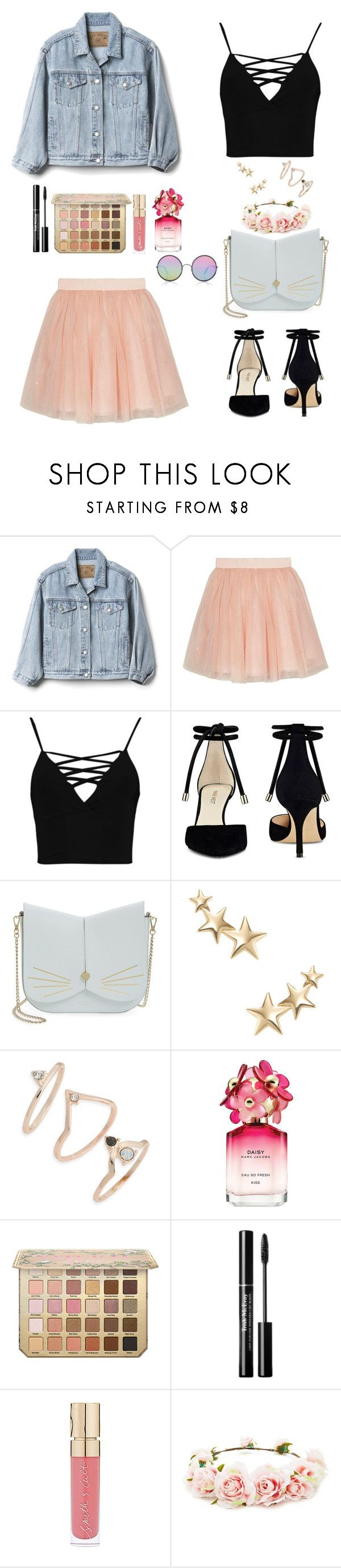 """Untitled #83"" by danistia ❤ liked on Polyvore featuring Gap, Ted Baker, Boohoo, Nine West, Kenneth Jay Lane, Topshop, Marc Jacobs, Smith & Cult, Forever 21 and Sunday Somewhere"