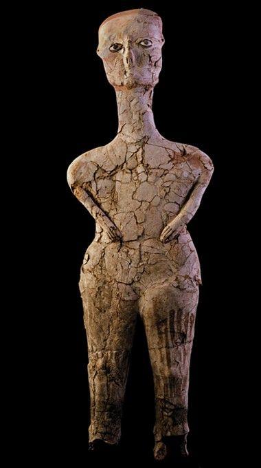 Ain Ghazal Figures from the Jordan archaeological site. c. 7000-5000 BC