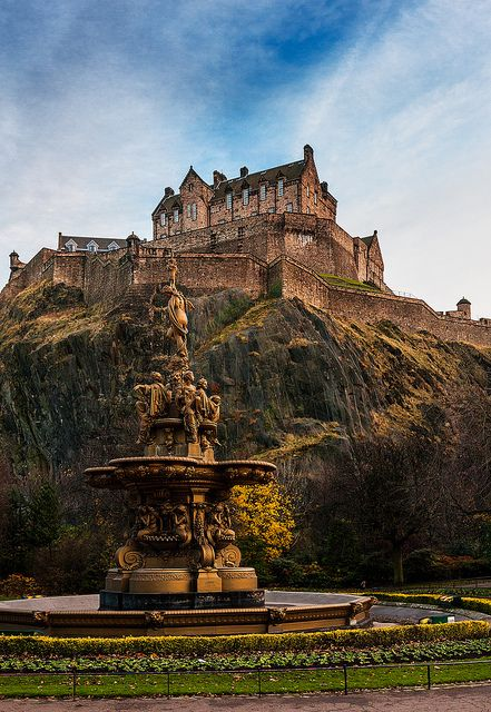 Edinburgh Castle, Edinburgh, Scotland. Had a 2 night break here in the summer but would love to go back over Christmas and New Year.