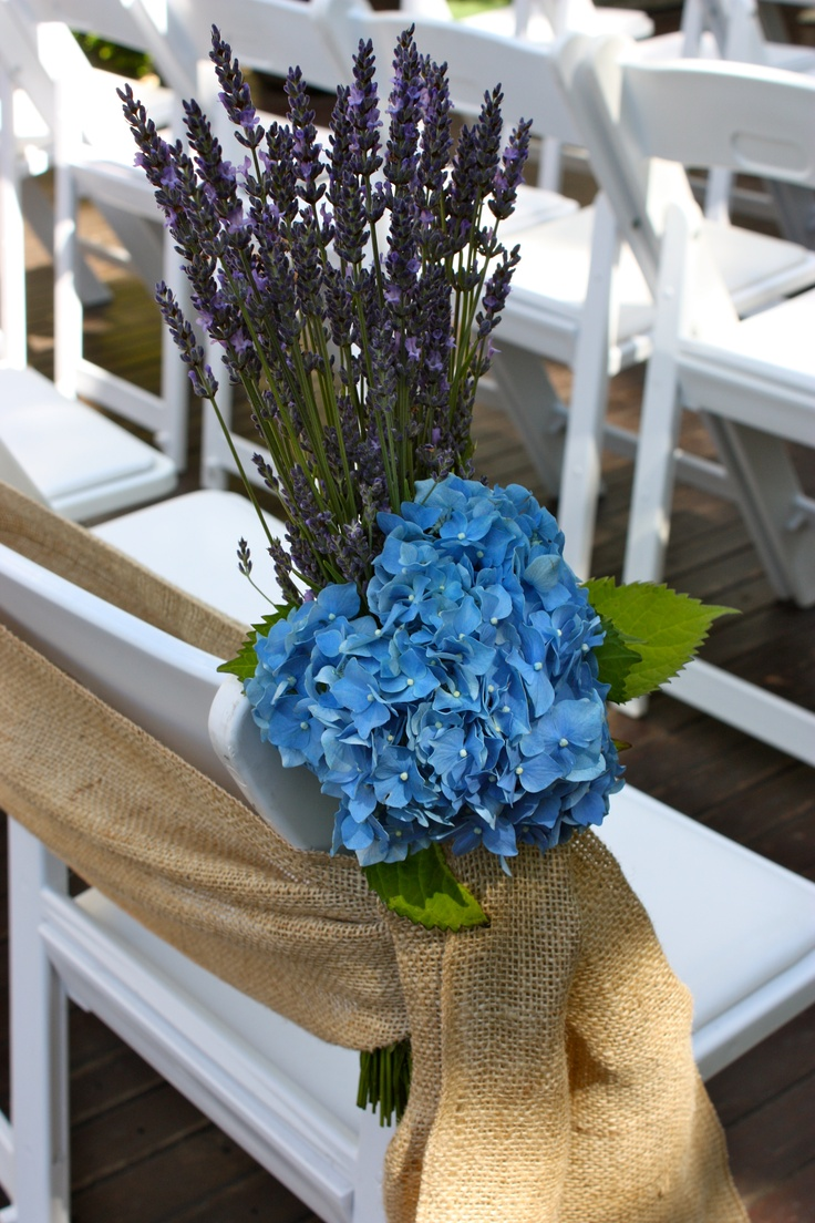 Blocking flowers for your pew arrangements makes them stand out so much more! Use bright colours and don't be afraid of using two opposing flowers like we have in this image. It is hydrangea and also lavender #wedding #ceremony #decorations #melbourne #weddingbouquet #weddingbouquets #weddingdecorations #weddingceremonydecorations #weddingdecorationshire #weddingdecorationsmelbourne #weddingdesigns #weddingflowers #weddingfloral #weddingplanner www.decorit.com.au (49)