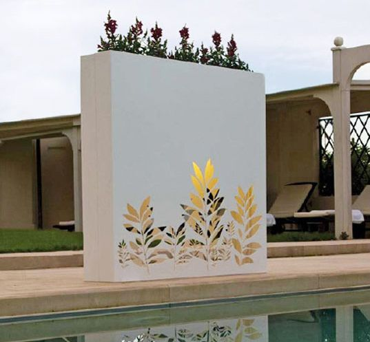 Outdoor wall pots and planters design by bysteel green for Garden design ideas with pots