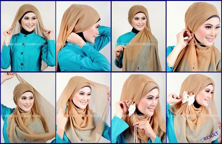 Tutorial Hijab Segi Empat Untuk Wajah Bulat Cara berjilbab segi empat