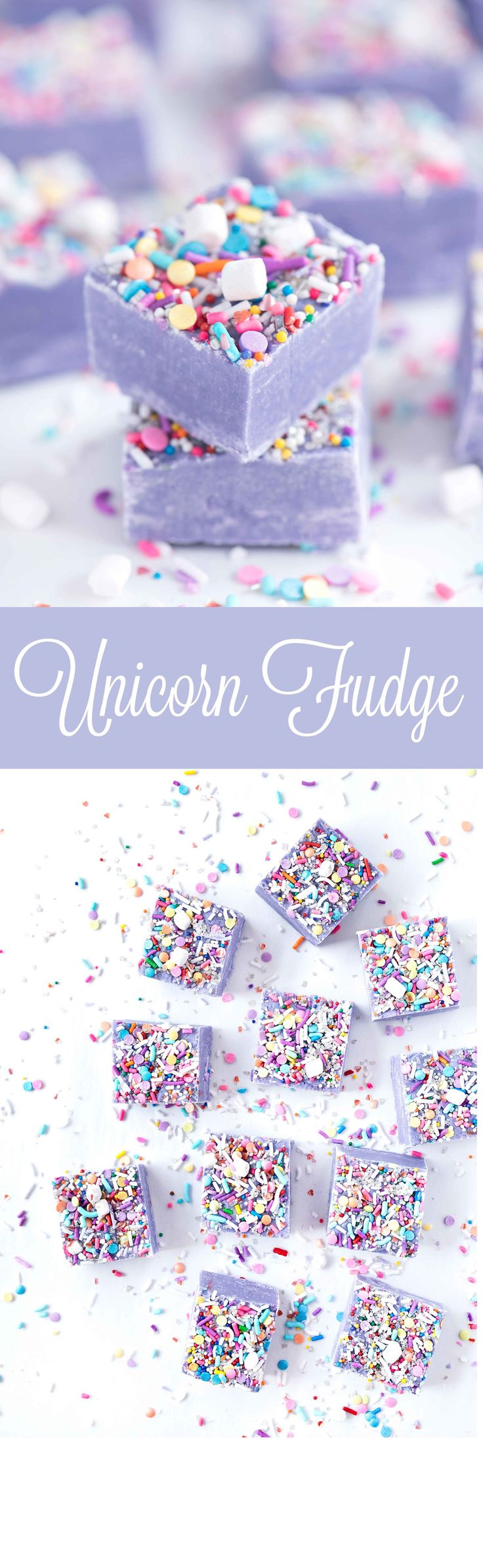 You. Just. Want. This. For Ever. And. Ever. And. Ever. Unicorn Fudge | Sprinkles for Breakfast