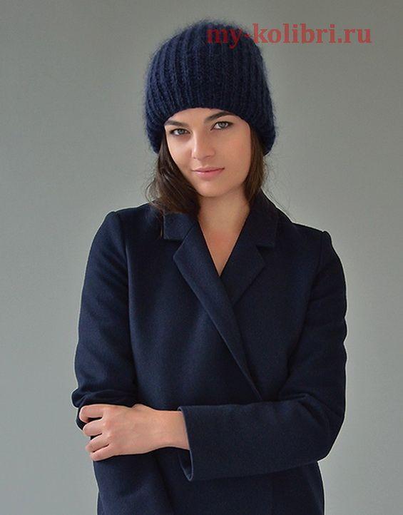 Три варианта шапки спицами «Mist» от Kim Hargreaves