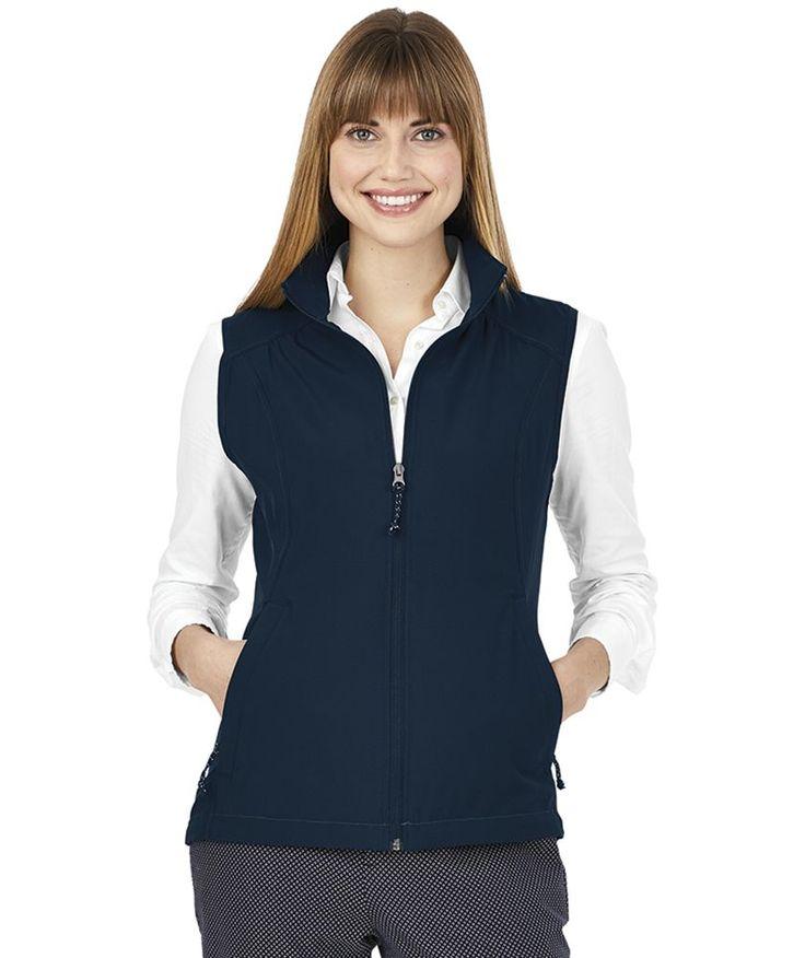 <ul> <li>94% Polyester/6% Spandex (3.54 oz/yd2)</li> <li>Fabric has a 4-way stretch for comfort and mobility</li> <li>Full-zip styling with zippered welt pockets to store valuables</li> <li>Women's version features princess seams for a flattering silhouette</li> <li>Coordinates with Men's Pack-n-Go Vest 9941</li> </ul>