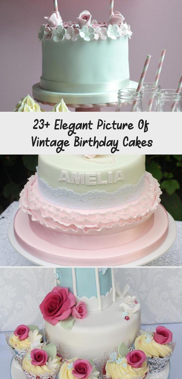 23 elegant picture of vintage birthday cakes cake in