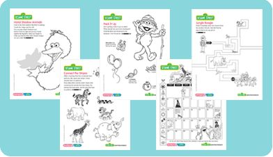 Tons of sesame street printable coloring pages!