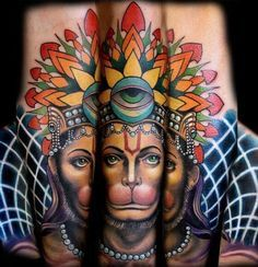 hanuman tattoo - Google Search                                                                                                                                                                                 Mais