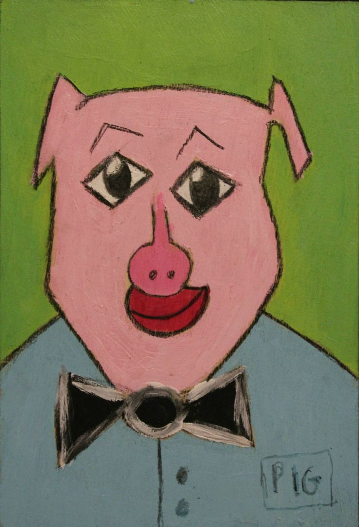 Pig Man by PaintingsbyKuchera on Etsy