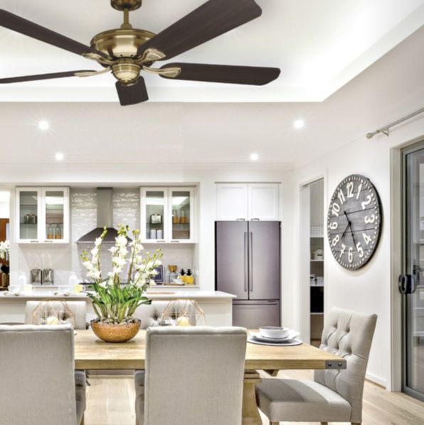The Healey Ceiling fan has a traditional style, a 65W motors and is suitable for indoor applications. It is ideal for period homes.