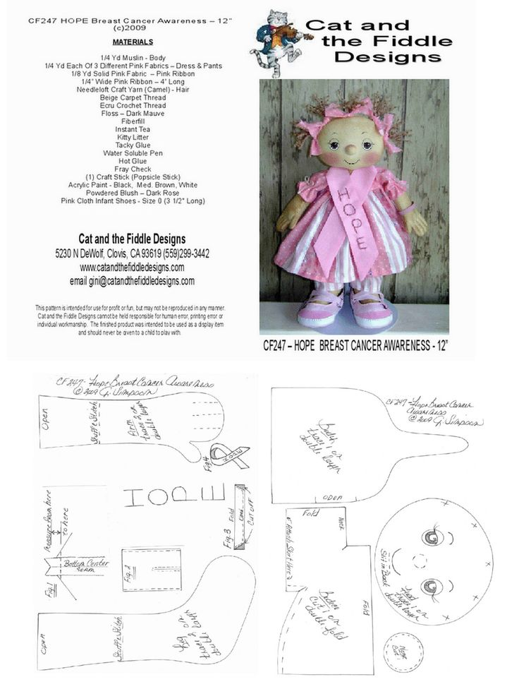 Pattern for a gorgeous doll