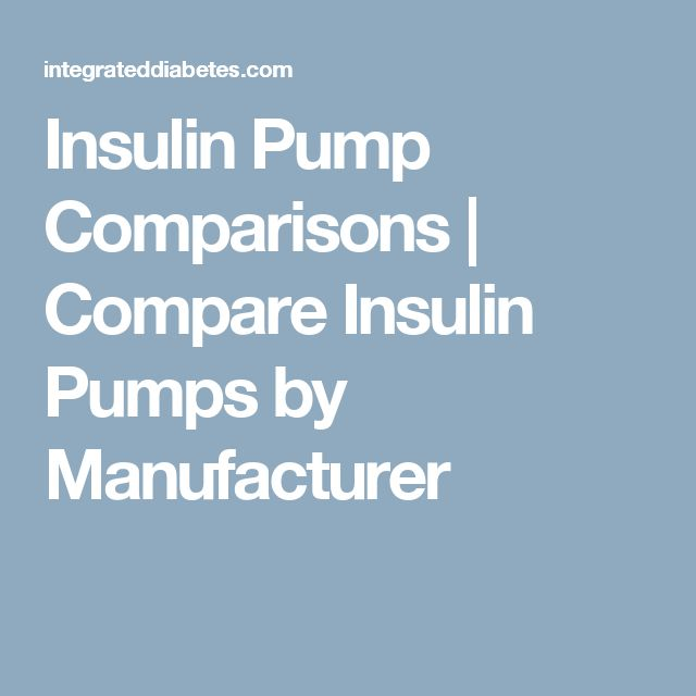 Insulin Pump Comparisons | Compare Insulin Pumps by Manufacturer
