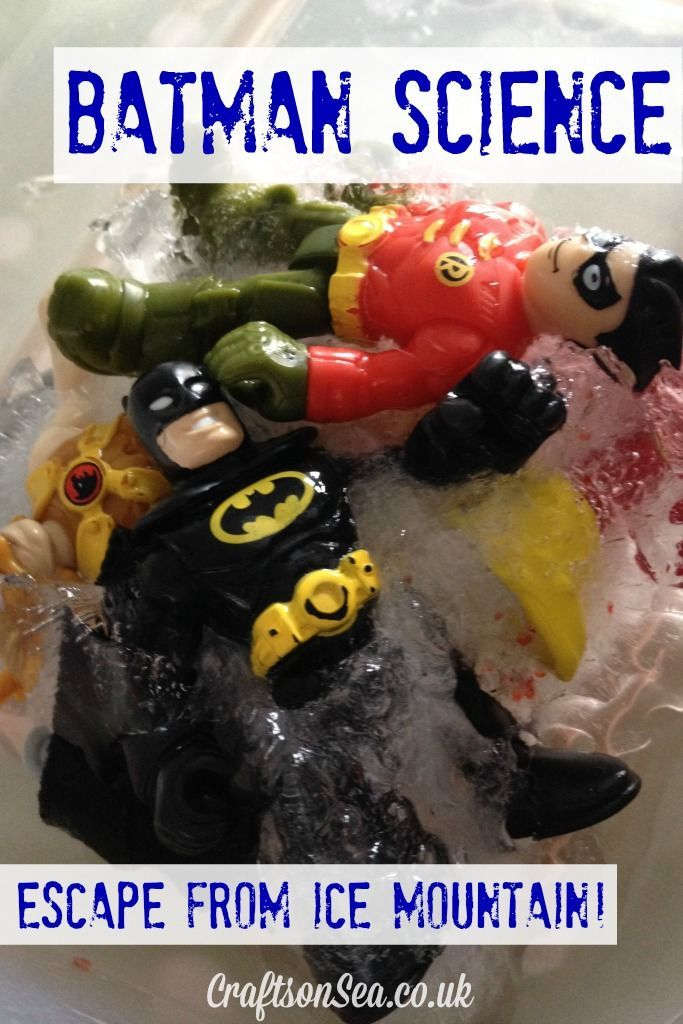 Batman Science: Escape from Ice Mountain! - Fun activity idea for kids! Crafts on Sea