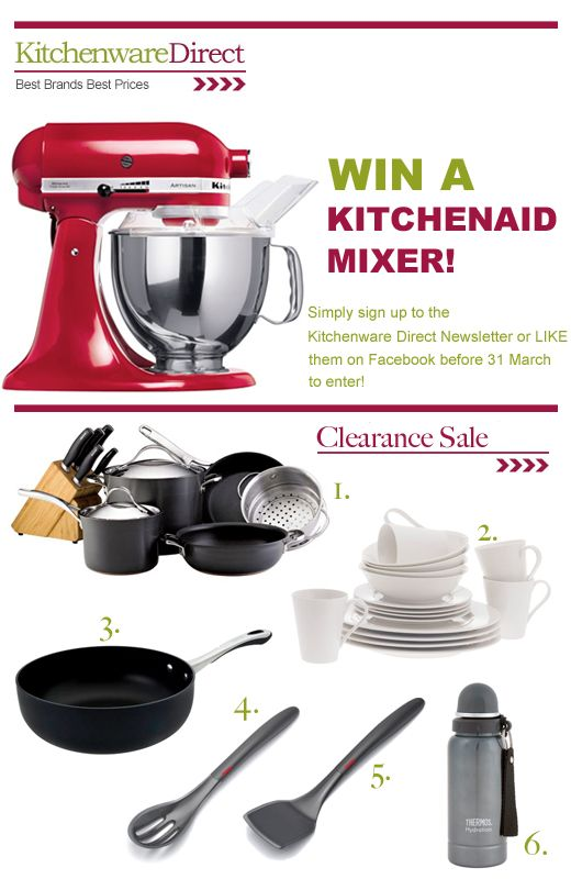 Best Brands, Best Prices at Kitchenware Direct: Up to 79% Off Clearance Items + WIN a KitchenAid Mixer