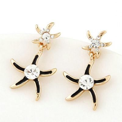 podotukushop_T6EA5D Anting Tusuk diamond decorated starfish