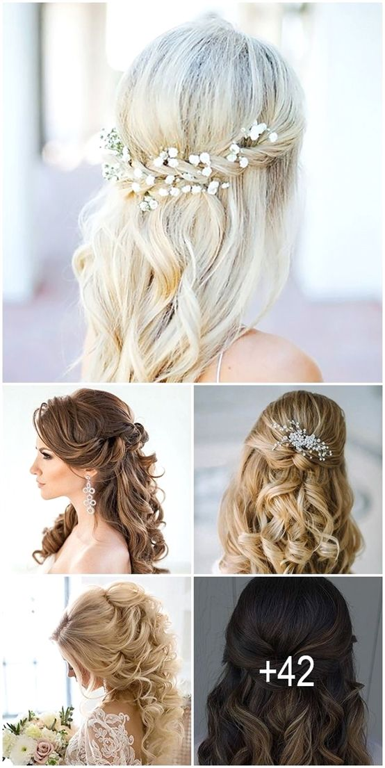 Bridalhair Makeup And Hairdos In 2019 Diy Wedding Hair
